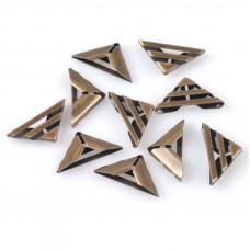 """Уголок для альбома """"треугольник"""" (три перемычки), бронза (17 мм.)"""