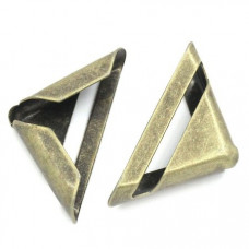 """Уголок для альбома """"треугольник"""", античная бронза (17 мм.)"""