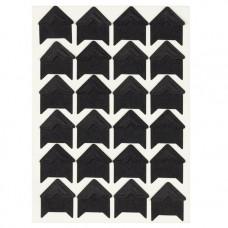 Уголки для фотографий самоклеящиеся бумажные, 15х15 мм., чёрные