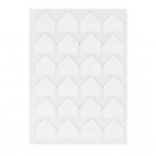 Уголки для фотографий самоклеящиеся бумажные, 15х15 мм., белые