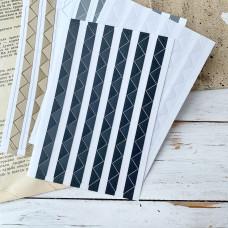 Уголки для фотографий самоклеящиеся, 11х11 мм., чёрные