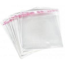 Пакет прозрачный с клеевым краем, 15 см. х 20 см., 2 штуки