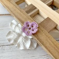 Цветок маленький сиреневый, 2 см.