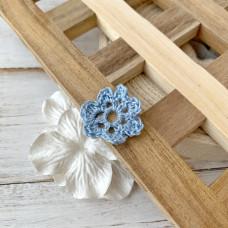 Цветок маленький голубой, 3 см.