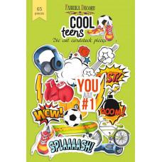 Набор высечек для скрапбукинга от Фабрики Декора Cool Teens, 65 шт.