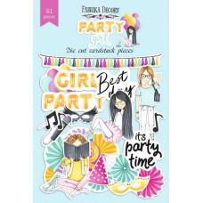 Набор высечек для скрапбукинга от Фабрики Декора Party girl, 61 шт.