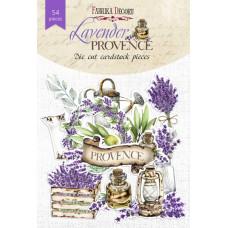 Набор высечек для скрапбукинга от Фабр. Декора Lavender provence, 54 шт.