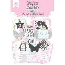 Набор высечек для скрапбукинга от Фабрики Декора Scandi Baby Girl, 50 шт.