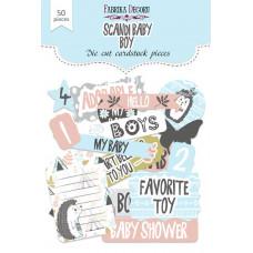 Набор высечек для скрапбукинга от Фабрики Декора Scandi Baby Boy, 50 шт.