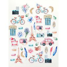 """Набор высечек от Mona Design """"Однажды в Париже"""""""