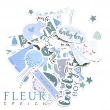 Набор высечек для скрапбукинга от Fleur Design Мой джентльмен