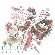 Набор высечек для скрапбукинга от Fleur Design Be mine