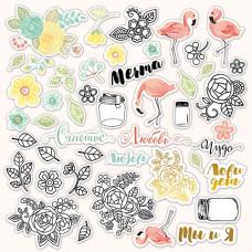 Набор высечек для скрапбукинга 45 шт. от Scrapmir Simple Flowers с золотым тиснением