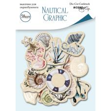 Набор высечек для скрапбукинга 58 шт. от Scrapmir Nautical Graphic