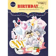 Набор высечек для скрапбукинга 41 шт. от Scrapmir Birthday Party