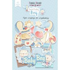 Набор высечек для скрапбукинга от Фабрики Декора Sweet baby boy, 42 шт.