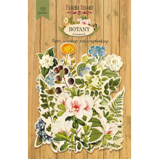 Набор высечек для скрапбукинга от Фабрики Декора Botany Summer, 59 шт.