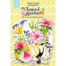 Набор высечек для скрапбукинга от Фабрики Декора Tropical paradise, 54 шт.