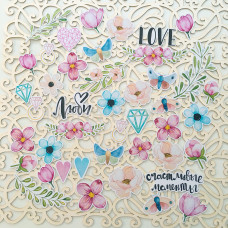 "Набор высечек от Mona Design ""Love is in the air"""